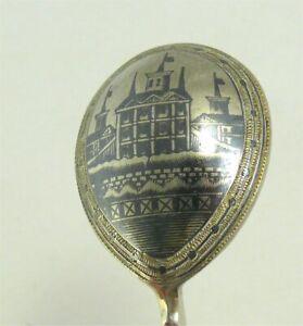 Pequena-Cuchara-para-Caviar-Rusa-de-Plata-Nielle-y-Corladura-S-XIX-Paisaje