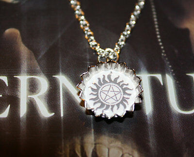 Dean Winchester AntiPossession Symbol Supernatural Charm Necklace The Family Business Sam Winchester