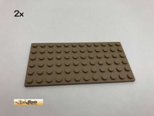LEGO® 2Stk 6x12 Basic Platte Brick Dunkelbeige Dark Tan 3028 52