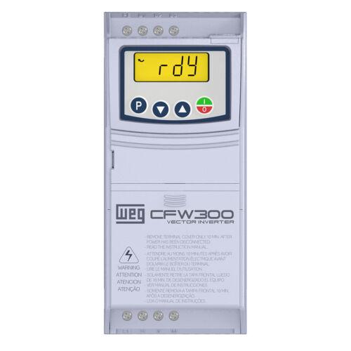 WEG VARIABLE FREQUENCY DRIVE CFW300B10P0B2DB20 FOR 3 HP 200-240 VAC 3 PHASE#