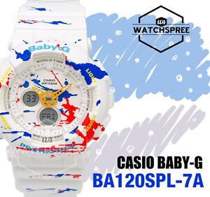 c421be8dfe7 Casio Baby-G New Splatter Pattern Series of BA-120 Watch BA120SPL-7A ...