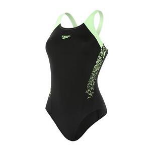 Speedo-Boom-Splice-Muscleback-Womens-Swimsuit-Black-Zest