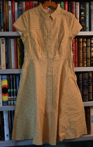 Borden  Skirt dress  Size  US 8 colors  Yellow and white  Cotton