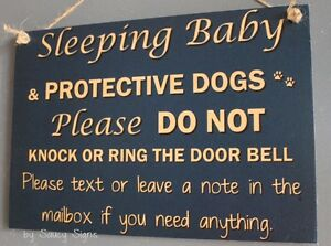 Blue-Sleeping-Baby-Don-039-t-Knock-Sign-Doorbell-Warning-No-Soliciting-Mailbox-Signs