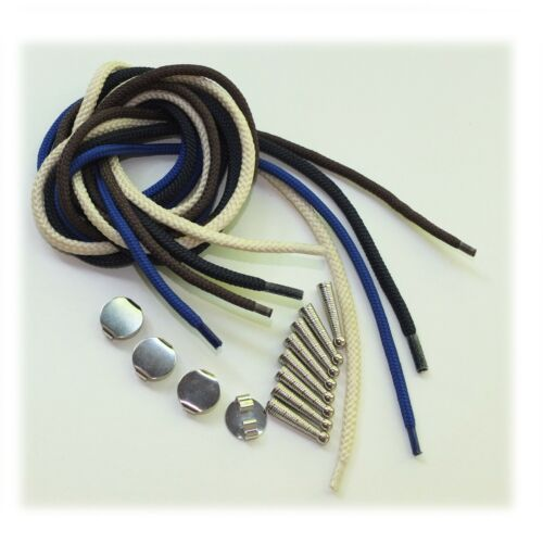 Blank Bolo Tie Parts Kit Assorted Colors DIY Silver Tone Supplies for 4 Ties