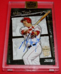 2017 Topps Archives Signature Series Mike Trout Stadium Club Auto #1/1 Angels