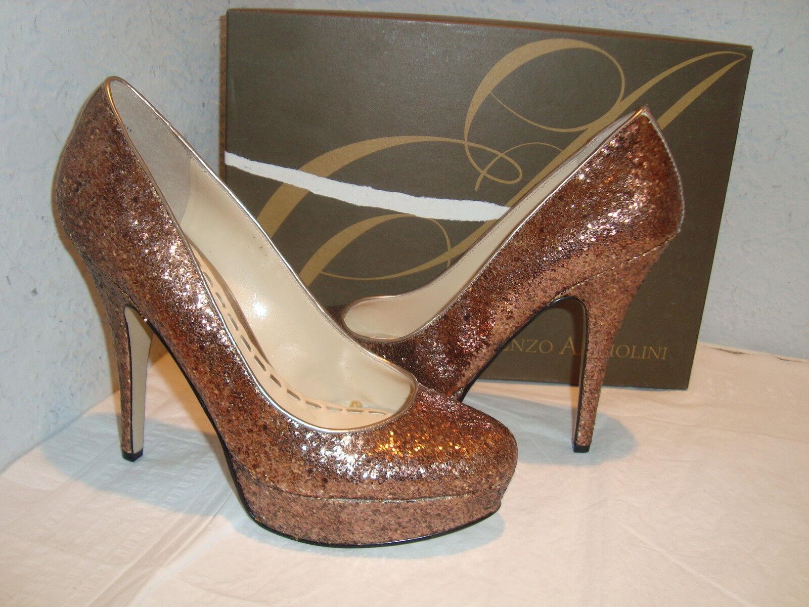 NEU Enzo Angiolini Damenschuhe Smiles Gold Heels Schuhes Größe 6 Medium