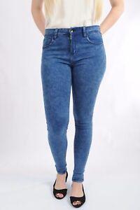 Brand-New-Femme-Mi-Taille-Skinny-Stretch-Jeans-Jeggings-Pantalon