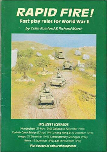 Rapid Fire  & first supplement (two books) - WW2 wargame rules