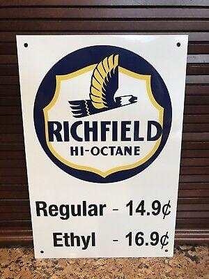 Richfield gasoline garage  Mechanic  Gas man cave  vintage  sign Reproduction
