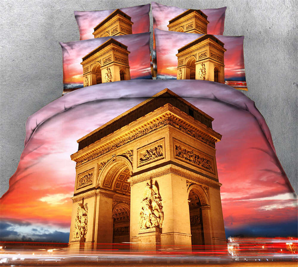 Awesome Palace 3D impression Duvet Quilt Doona Covers PilFaible Case Bedding Sets