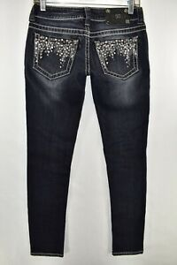 Miss-Me-Jeans-Skinny-Womens-Size-27-Blue-Meas-27x31