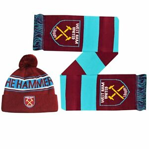 West Ham Fade Scarf New Football Sport Gift Winter Birthday Christmas