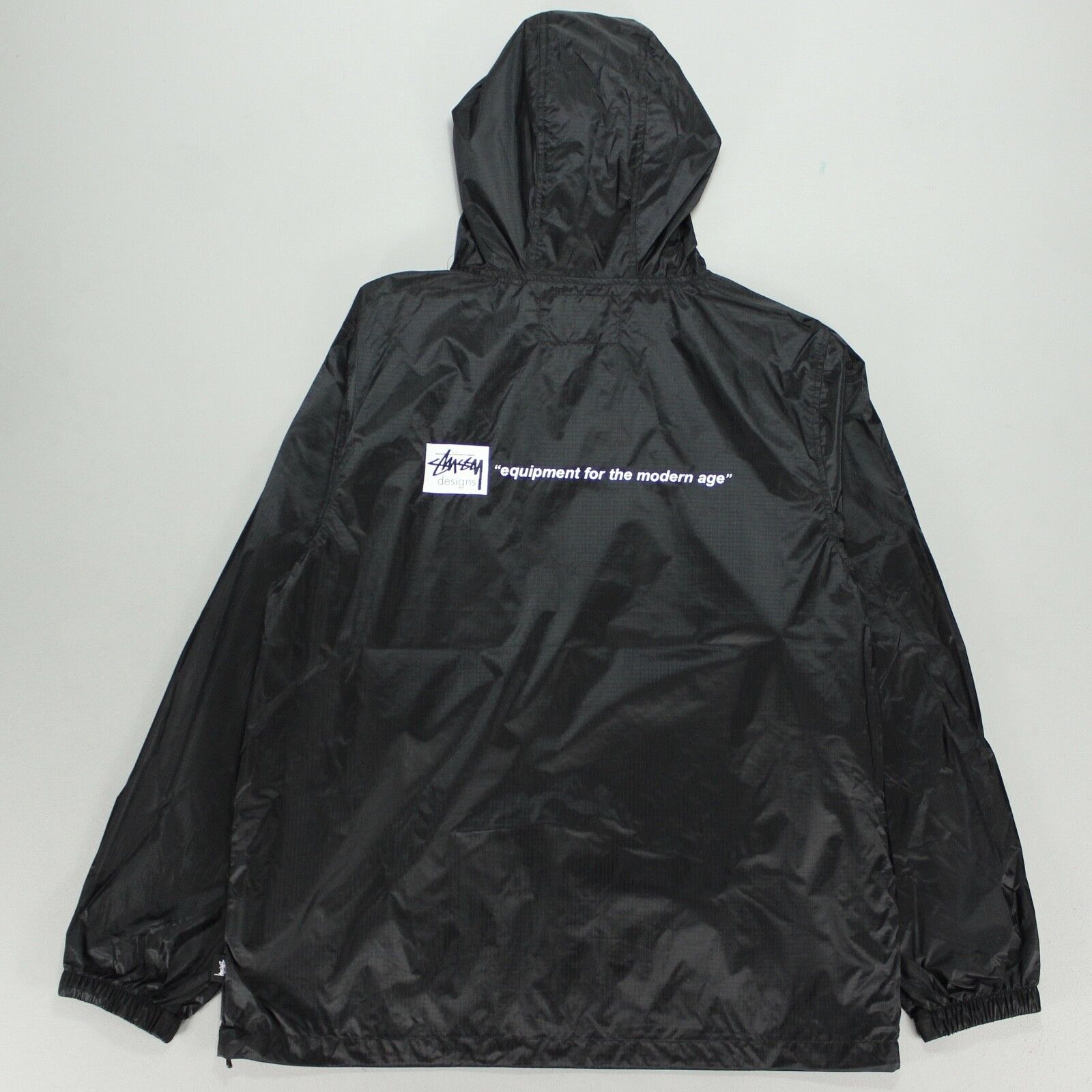 Agora Great Wall Pullover Windbreaker Jacket Long Stussy Anorak NEW