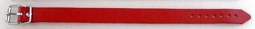 5 Lanière en cuir rouge 1,4 x 24,0 cm de long poussette accessoires considère COURROIE Fixriemen