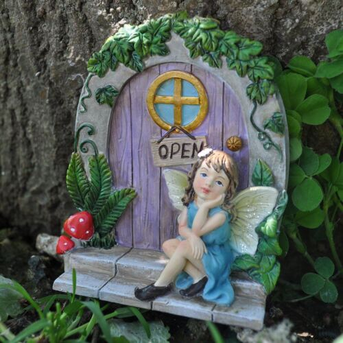 Fée Porte Décoration De Jardin Arbre Décoration d/'intérieur cadeau figurine Pixie Figure