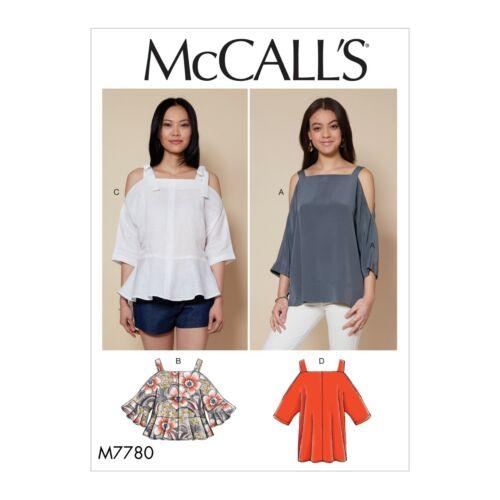 Mccalls patrones de corte m7780-blusa-con vigas-negligencia lejos