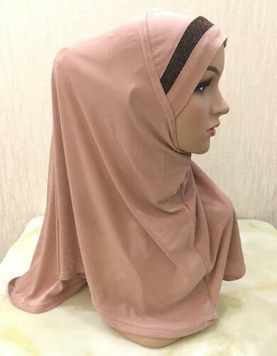 One Piece Muslim Women Headscarf Shawl Scarf Hijab Wrap Headwear Amira Islamic