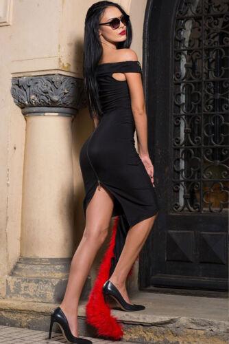 Abito Borchie Aderente Scollo Party Ballo Cerimonia Split Back Studded dress S