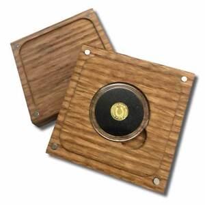 1-4-Gram-9999-Fine-Gold-Round-in-a-Capsule-with-a-Box-Horseshoe-Design-BU