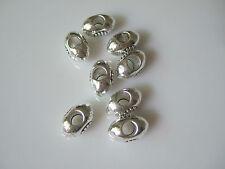 10 x Tibetan Silver 3D Rugby Football Charms Beads Fit European Bracelet