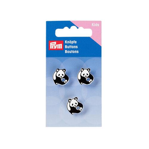 Prym Enfants Boutons œillets Panda 17 mm noir//blanc 3 ST ART-Nº 316733
