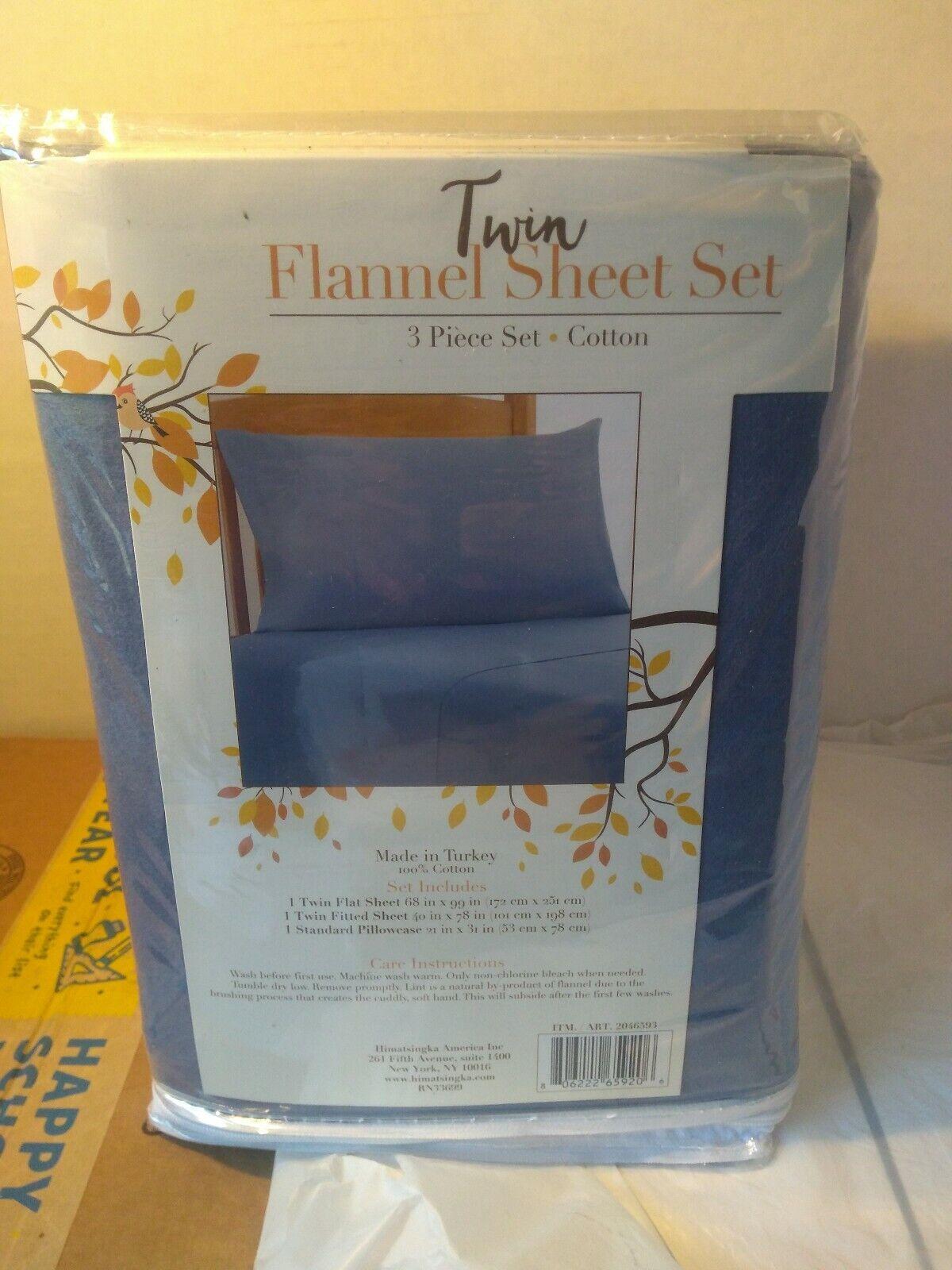 Dogs Twin Flannel 3 Piece Sheet Set 100/% Cotton Himatsingka America