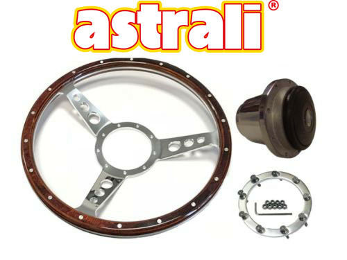 """Astrali® 14/"""" Inch Classic Wood dished Steering Wheel /& boss for Triumph Spitfire"""