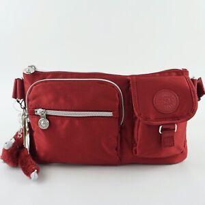 KIPLING-PRESTO-Convertible-Waist-Bag-Belt-Bum-Bag-Fanny-Pack-Red
