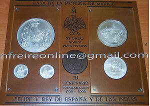 Mexico-2000-Felipe-v-20-10-5-1-1-Oz-37-Unze-Mexiko-Mexiko-Mexiko-Oz