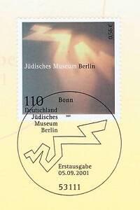 FidèLe Rfa 2001: Musée Juif à Berlin Nº 2216 Avec Le Bonner Cachet Spécial! 1a-afficher Le Titre D'origine