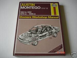 AUSTIN-MONTEGO-1-3-1-6-1984-to-1992-HAYNES-WORKSHOP-MANUAL-NEW-OLD-STOCK