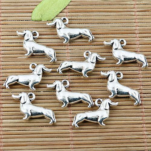 12pcs Tibetan silver nice Chien Charms EF1690