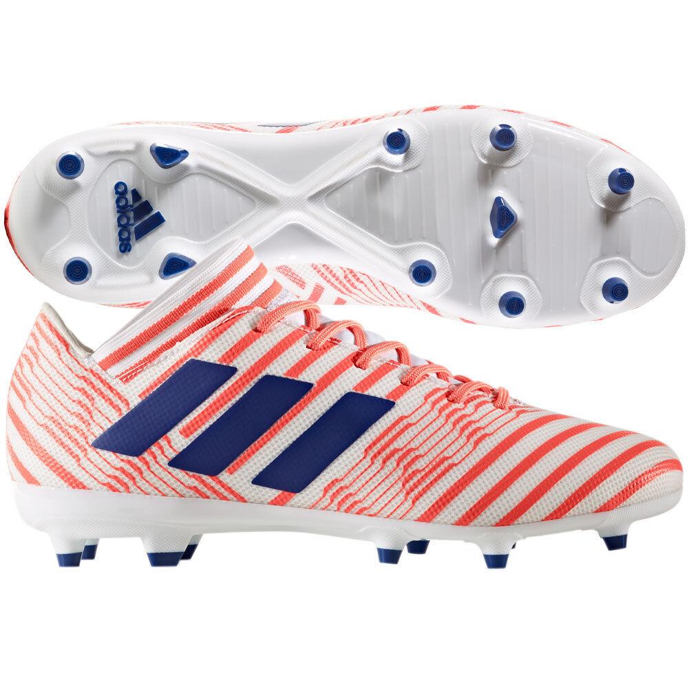 adidas Womens Nemeziz 17.3 FG 2017 Soccer Shoes Cleats White / Red / Blue New