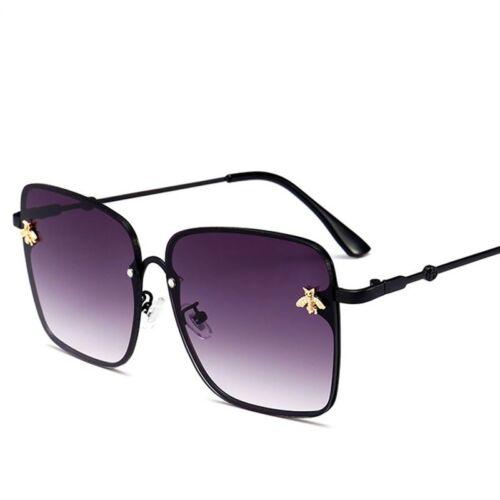 Luxury Bee Sunglasses Oversized Metal Frame Vintage Women Summer Shades 2019 NEW