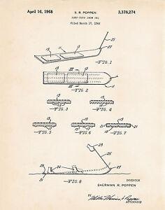1968 Snowboard Snowboarding Gifts For Guys Boyfriend Snurfer Patent Wall Art