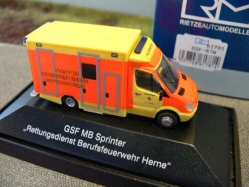 1//87 Rietze GSF RTW salvamento Herne 61781