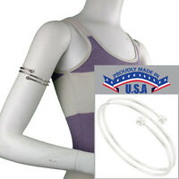 Usa Made Bracelet Upper Arm Silver Tone Triple Armlet Ball End Size Large Xl