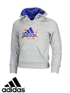 Filles Sur Performance Capuche Adidas Haut D'origine Gris Le Sweat Détails Titre M67664 Afficher Junior À 0wN8nm