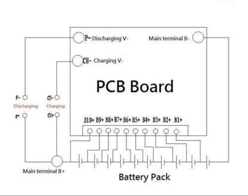 Battery Protection Board BMS PCB For 10Packs 36V 10S Li-ion Cell Max 40A Balance