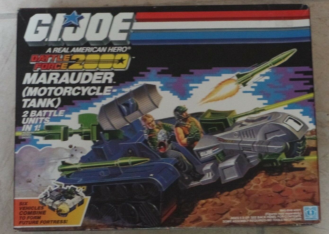 GI Joe Battle Force 2000 MARAUDER Motorcycle Tank Hasbro 1987 New SEALED MISB