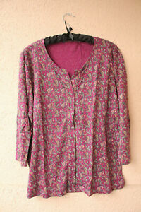 Weinrotes-3-4-Arm-Shirt-mit-Paisley-Muster-ca-Groesse-XL