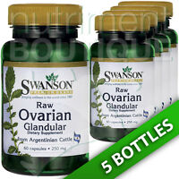 Swanson Raw Ovarian Glandular 250 Mg 5x60 Caps