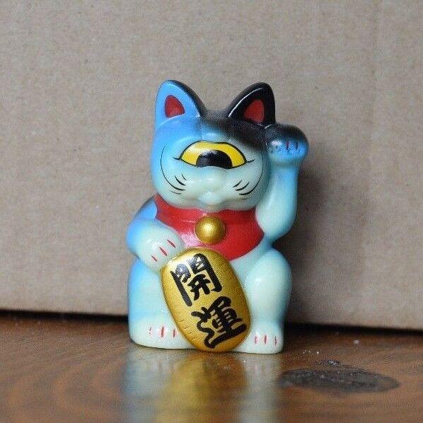 Real x Head Mini Fortune Cat 2.5   - Light blu - Vinyl - Sofubi giocattolo uomoeki Neko  una marca di lusso