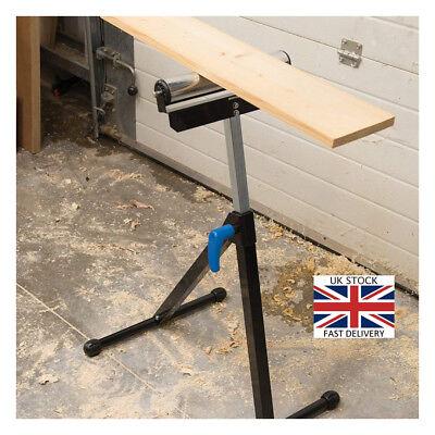 Set of 2 Foldable Heavy Duty Adjustable Workshop Roller Stand Bench Saw 60kg