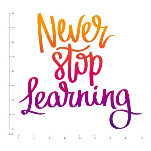 Never Stop Learning Classroom Quote Wall Sticker WS-46458