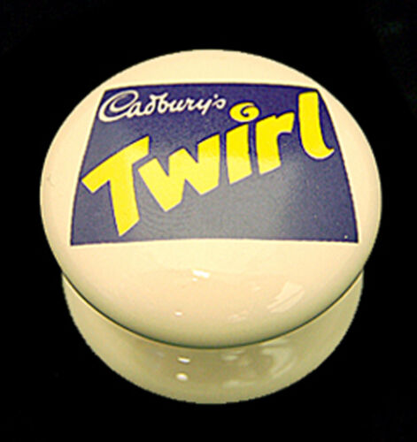 Classic Cream Porcelain Ceramic Novelty Sweets Branded Cupboard Door Knobs 38mm