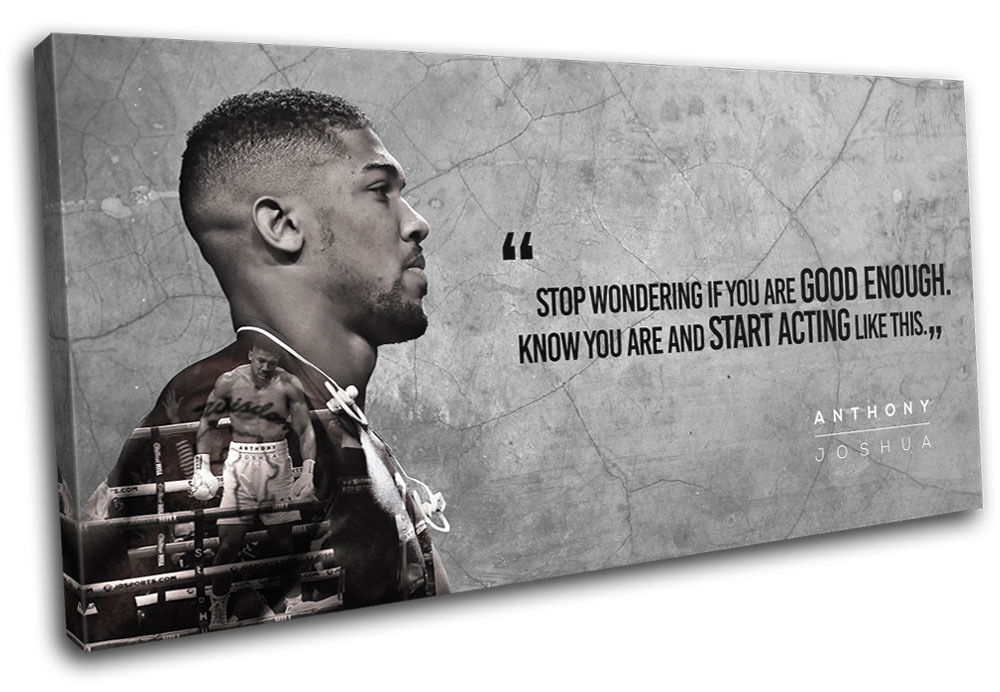 Boxing anthony joshua toile quote sports single wall art photo print