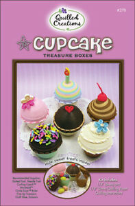 CUPCAKE-TREASURE-BOXES-QUILLING-KIT-Quilled-Paper-Craft-3D-Cupcakes-Crafting