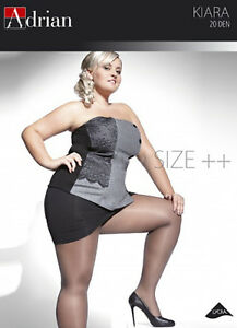 Plus-Size-Classic-Tights-ADRIAN-034-KIARA-034-20-Denier-Sizes-L-to-XXXXL